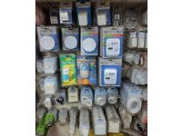 Electrical Equipment JobLot Status Alarms Sockets Leads Adaptors Cables and much more!! £100.00 ono