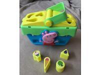 Peppa pig basket and shapes