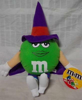 M&M's GREEN M&M CHARACTER DRESSED AS HALLOWEEN WITCH Plush STUFFED ANIMAL NEW - Halloween M&m Game