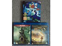 3D Blu-rays: Rio 2; Disney Oz The Great and Powerful & Hugo