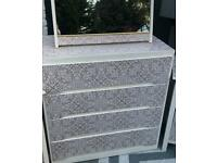 BESPOKE CHEST OF DRAWERS AND MATCHING MIRROR