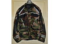 Size 5XL Camouflage Armoured MotorCycle Bike Wind/Waterproof/Cordura Jacket