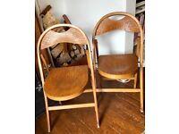 Vintage Folding Chairs x 2