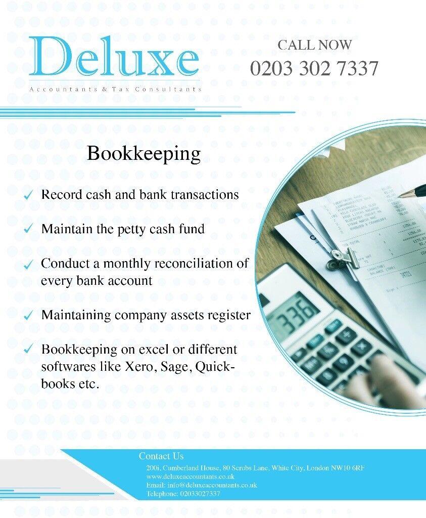 Bookkeeping, Company Accounts Preparation, Payroll, VAT