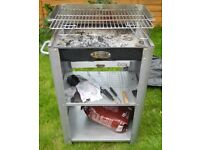 LIFESTYLE IBIZA DELUXE CHARCOAL BARBECUE grey steel LFS254