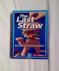 THE LAST STRAW GAME BY PAUL LAMOND. BALANCE THE STRAW GAME. COMPLETE AND VGC.
