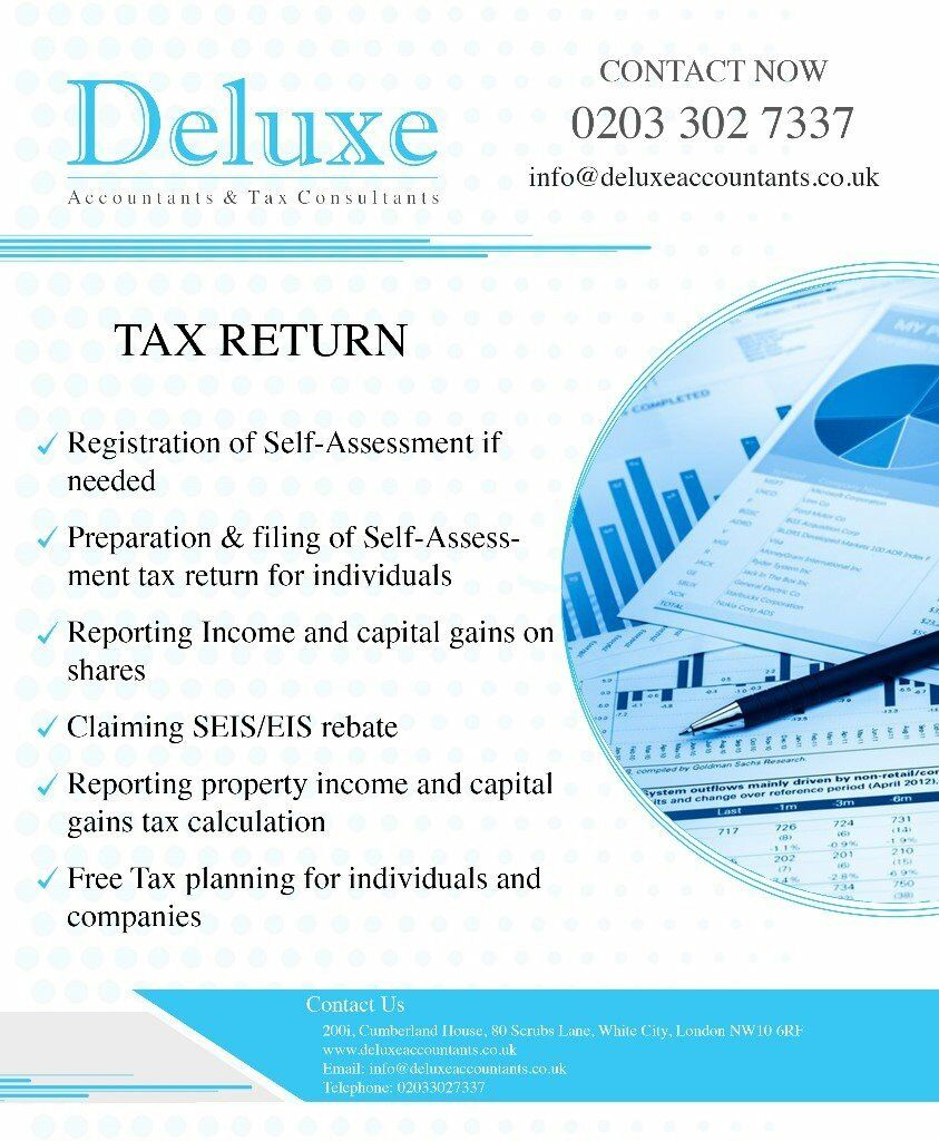 Self Assessment Tax Return Accountant Bookkeeping Accounting