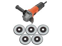 Black and Decker Angle Grinder With 5 Discs - 750W