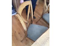 John Lewis dining table and chairs solid wood 6-8