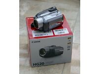 Canon H20 HD Camcorder recording to SD Card or Built in 60GB Hard Drive.