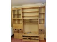 Display Bookcase, shelves and TV stand unit