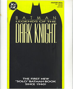 Legends of the Dark Knight 1 vfn  1989 yellow cover Batman DC Comics US Comics
