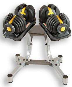 NEW Weight Select Dumbbells Each dumbbell adjusts from 5 to 52 lbs. (Stand Included)