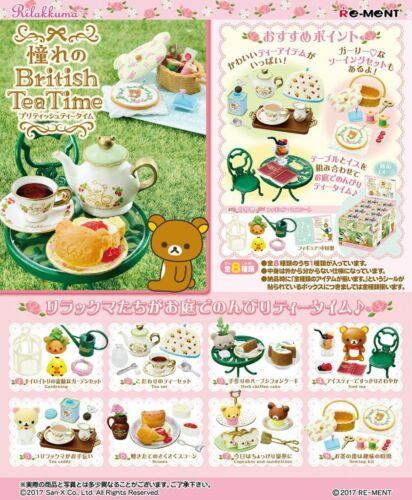 Re-Ment Miniature San-x Rilakkuma British Tea Time Stop Produced rement Full set
