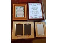 4 x pictures, frames