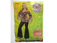 1960'S Hippie Costume size Large BRAND NEW