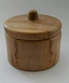 Brand New Ash Lidded Pot