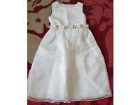 Brand new white satin Flower girl dress age 10-11 years selling for £10