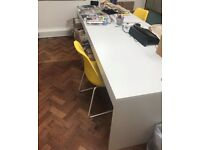 x8 White Office Desks available - Excellent Condition, only £25 each