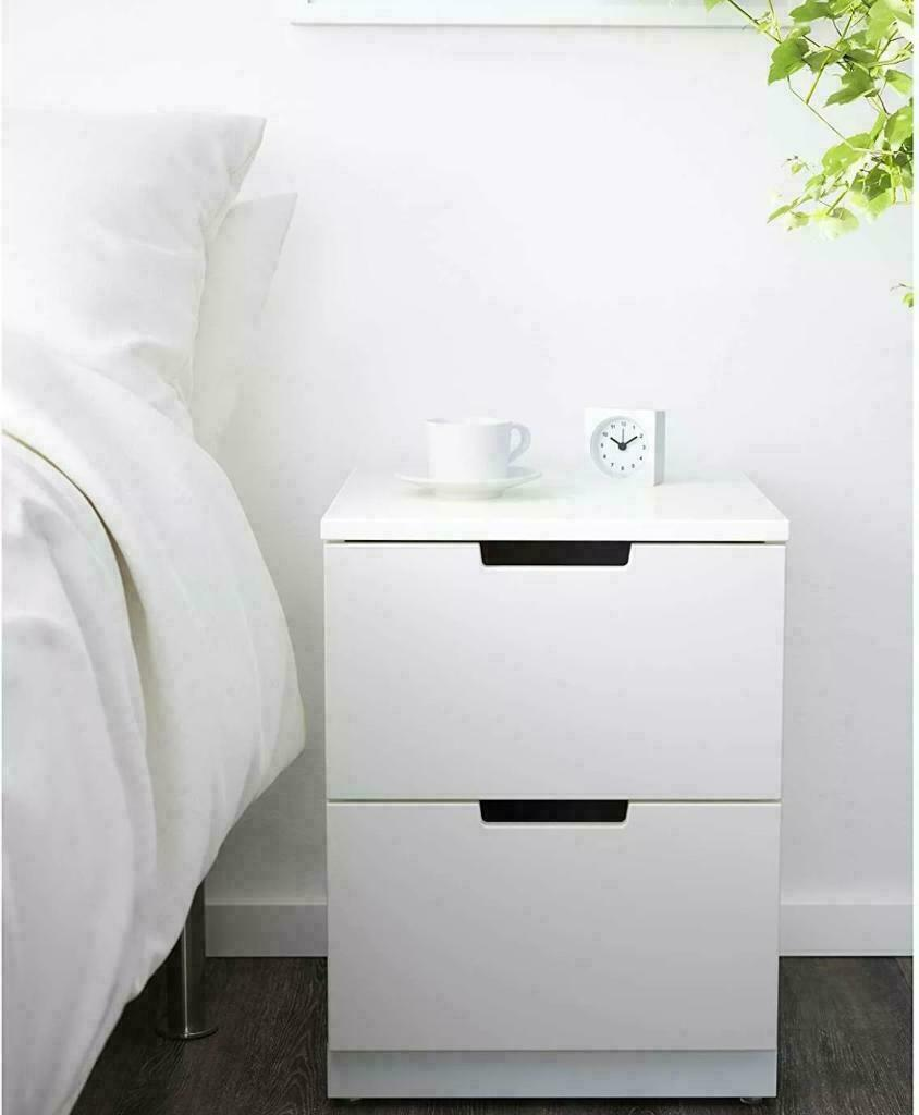Ikea Nordli Bedside Cupboard Drawer White Mint In Mitcham London Gumtree