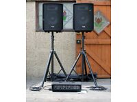 "SubZero SCJ210 175W 10"" PA System with Stands, Carry bag & Jack Cables"