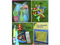 garden toys prices in picture or £15 the lot tent is free with bundle