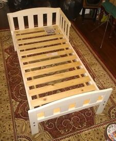 Mothercare white wooden toddler bed