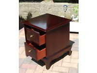STAG TABLE WITH TWO LARGE DRAWERS