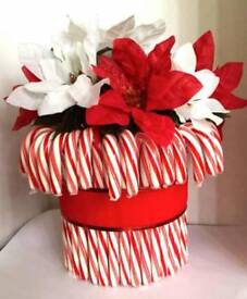 Christmas candy cane vases