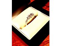 Brand new 925 sterling silver handmade 3 stone ring with pavé set shank