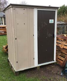 Metal Shed, ready built, ex-display.