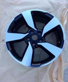 "Nissan Qashqui 18"" black & polished finished alloy wheel"