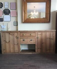 Large Solid Pine 7ft Sideboard