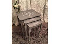 Shabby chic French style nest of tables