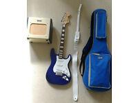 Fender Squier Affinity Strat + Fender Champion tube amp