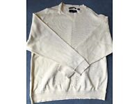 New Mens GREG NORMAN Golf Jumper Large (XL), Pale Yellow