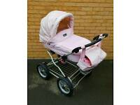 Must see pink leather baby lux pram
