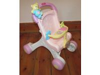 Fisher Price brilliant basics stroll along walker first dolls buggy