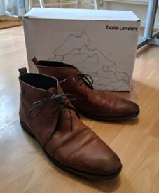 Base London brown leather shoes UK size 10