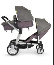 Double pushchair (Mothercare genie tandem)