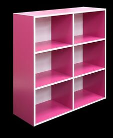 Pink 3 Tier Wooden Bookcase (Minor Damage/Cosmetic Marks) STILL NEW IN BOX