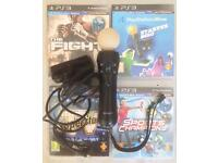SONY PLAYSTATION 3/4 MOVE PS3 PS4 MOTION CONTROLLER REMOTE CAMERA NAVIGATION WEBCAM CAM & GAMES