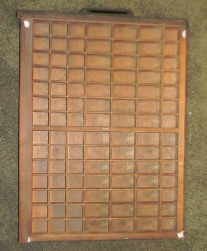 Antique Ludlow Matrix Wood Printers Letterpress Tray Display Shelf Drawers  LDWO