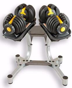KELOWNA WAREHOUSE NEW Weight select Dumbbells Each dumbbell adjusts from 5 to 52 lbs.(Kelowna location)