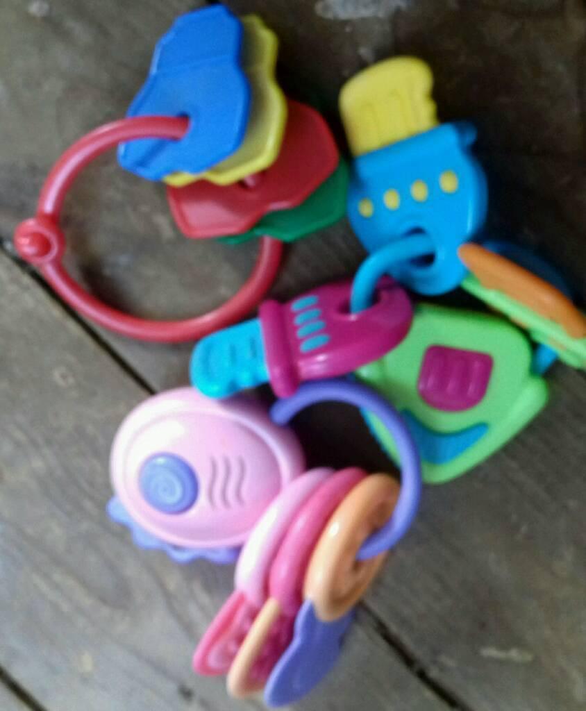 Babies key rattles