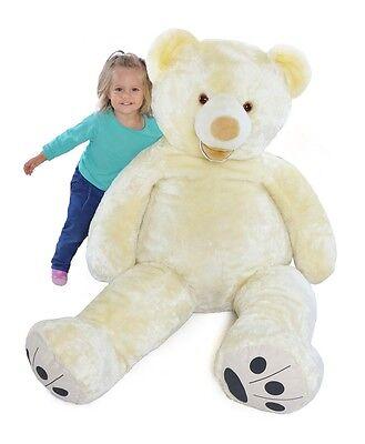 Riesen Teddybär Plüschbär Stofftier weiß 160cm groß