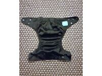 Charlie Banana One Size Cloth Nappy with 2 inserts | MIDNIGHT BLACK | £20 | GREAT COND | Rawmarsh