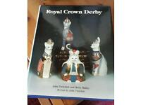Signed royal crown derby collectors hardback book