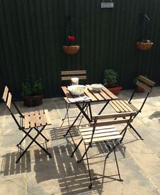 TABLE & CHAIRS / outdoor GARDEN Table & 4x Chairs / IKEA