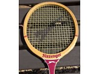£10 Vintage Slazenger 'The Dart' Squash Racket Original Wooden Frame